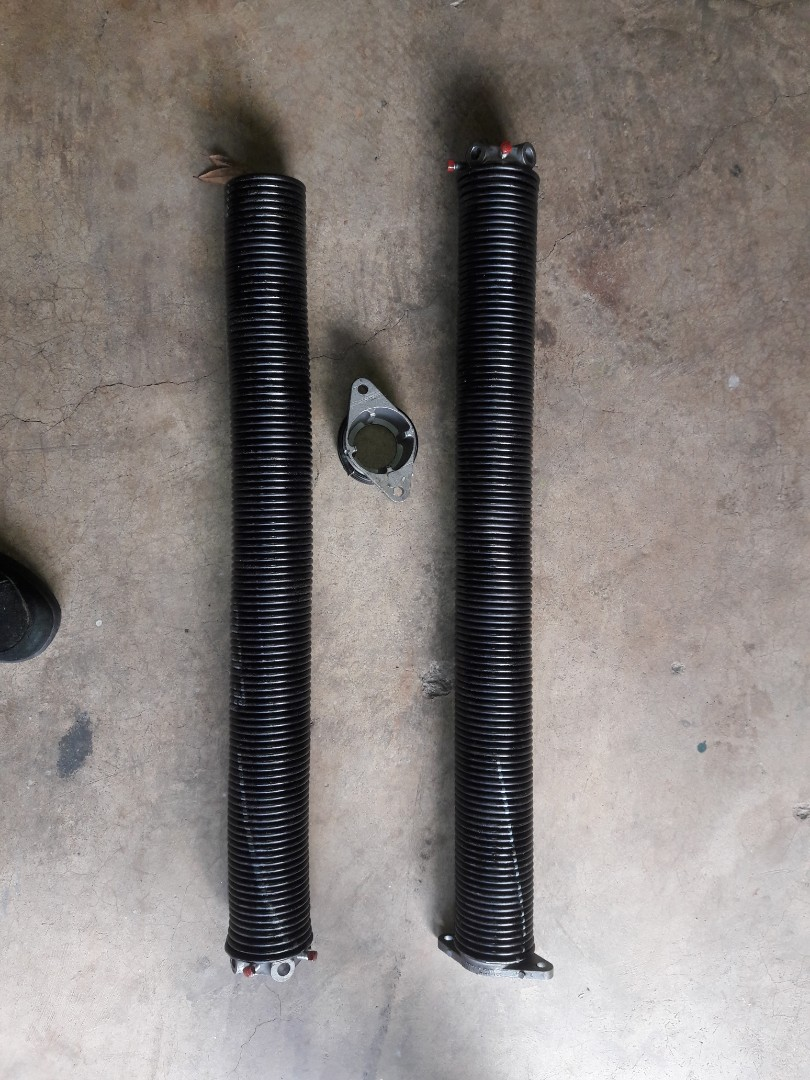 replaced springs and bearing plates