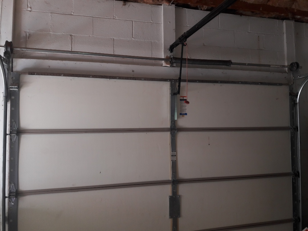 Charlotte, NC - Installed two 18ft struts and operator enforcement bracket