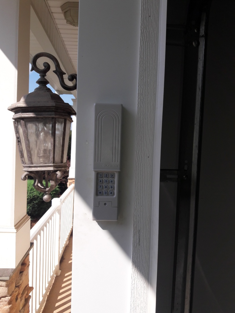 Charlotte, NC - replaced remote and keypad