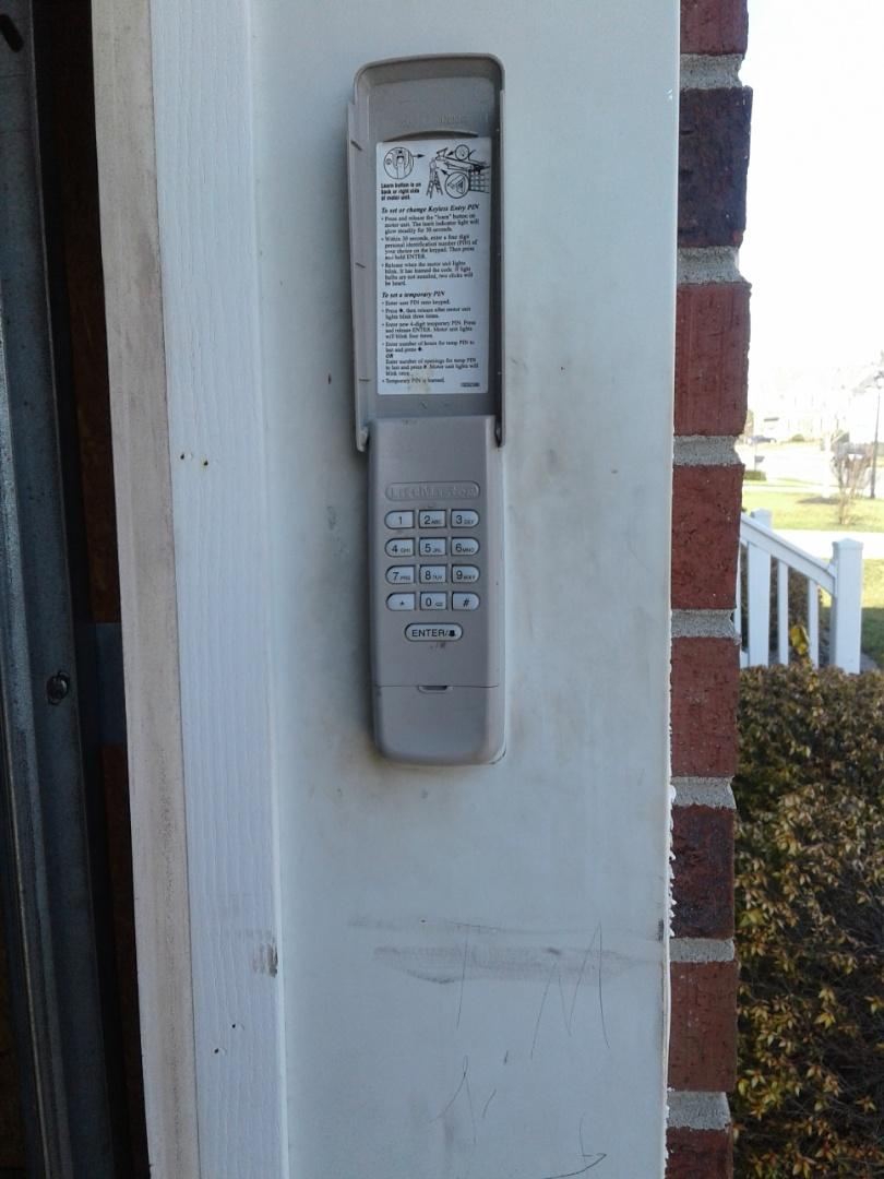 Indian Trail, NC - Reprogram opener remotes and keypad