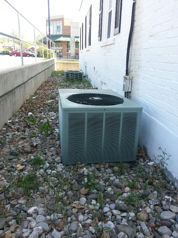 Essex, MD - Air conditioner maintenance call. Needed to replace air filter and perform inspection of cooling system.