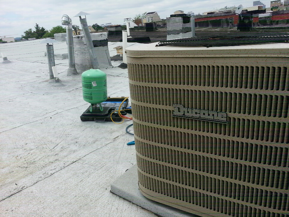 Baltimore, MD - Ducane AC repair in West Federal Hill. I needed to add R-22 to cooling system located on the roof.