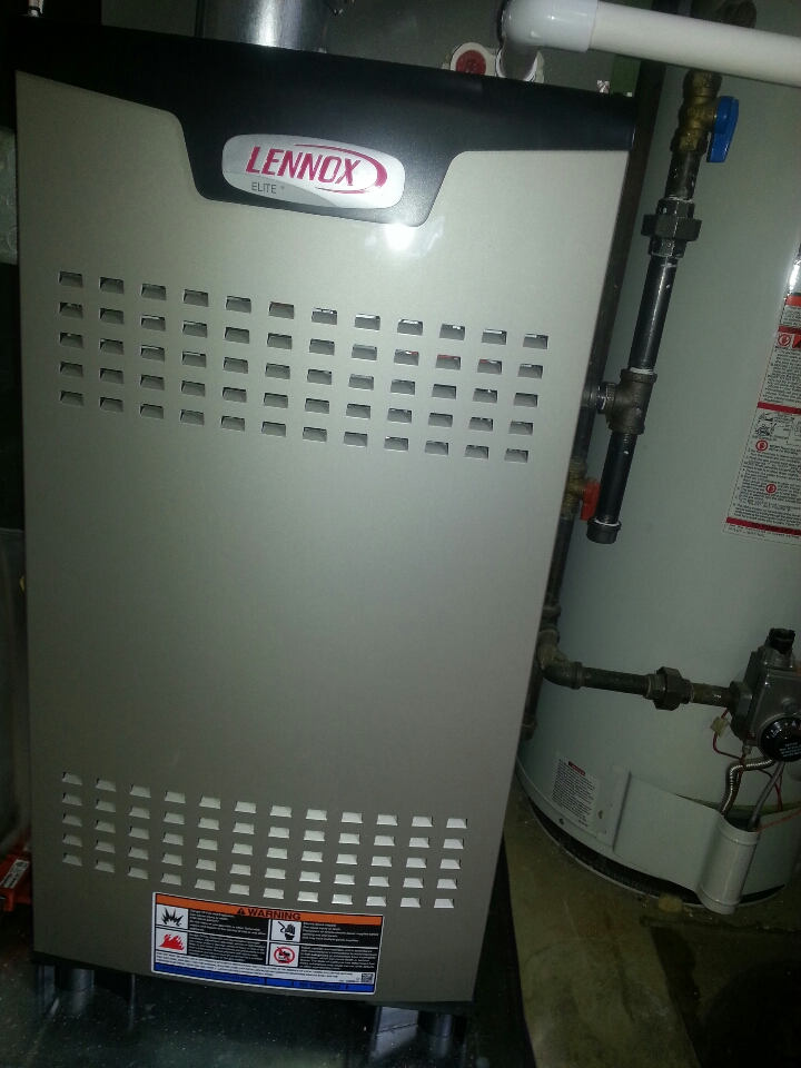 Towson, MD - Install new Lennox furnace and new Lennox 16 SEER air conditioner funded by low cost hvac financing.