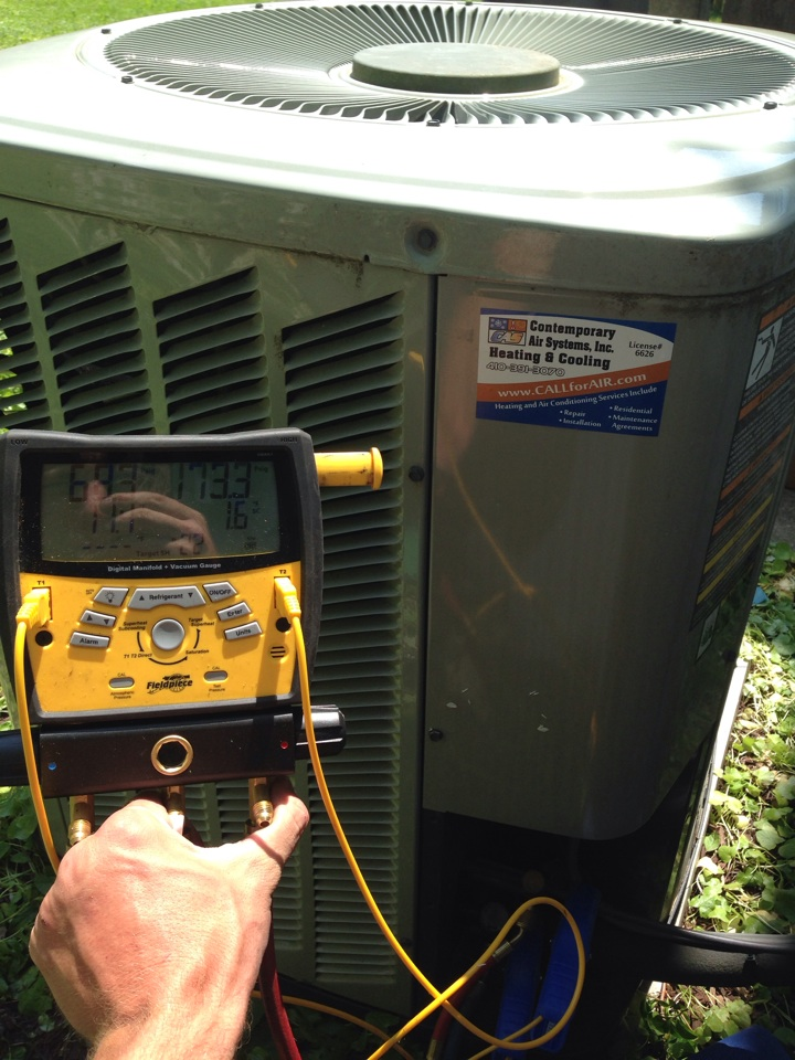 Baltimore, MD - AC repair made. Trane unit needed fan motor and capacitor.
