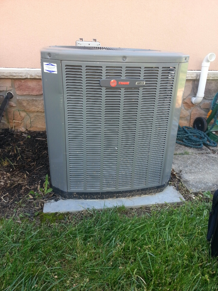 Perry Hall, MD - AC service call. Replacement of txv in Trane evaporator coil.