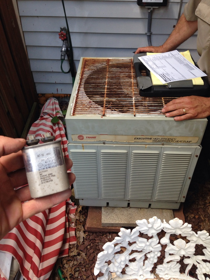 Perry Hall, MD - ac service call repair replaced bad capacitor