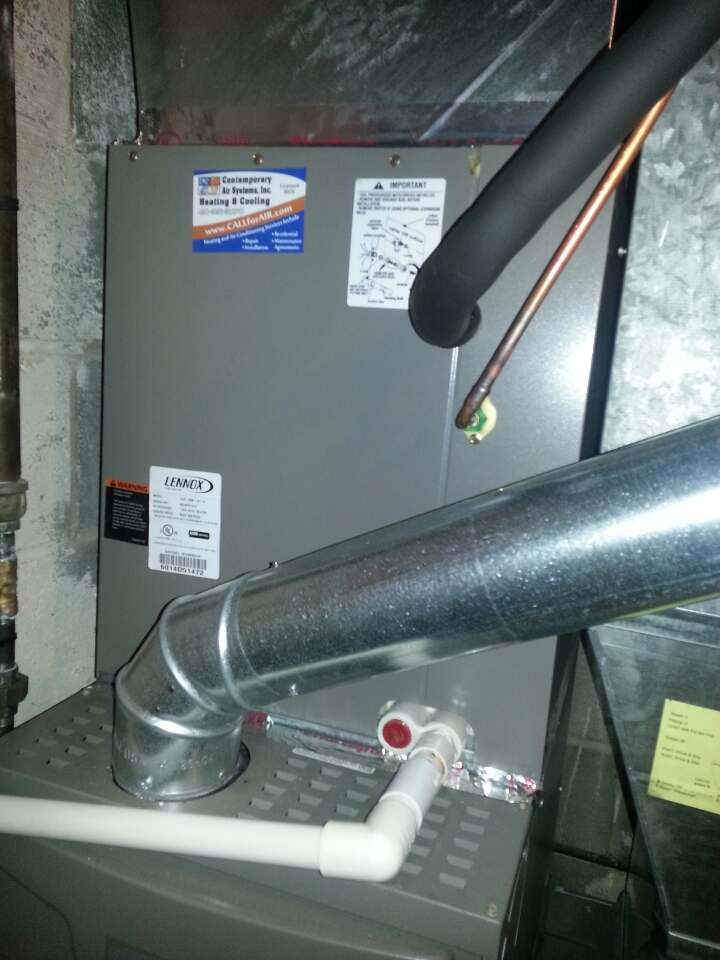 Dundalk, MD - AC service. Replace evaporator coil in Lennox air conditioning system.