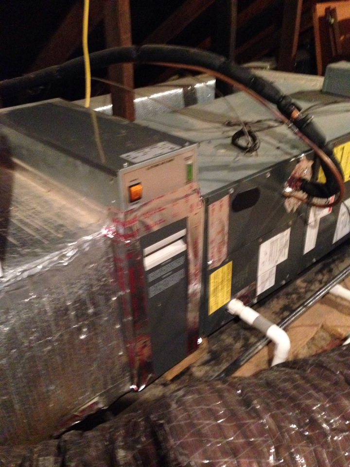 Essex, MD - AC service call on Goodman air handler. Replaced dirty air filter with a new one.