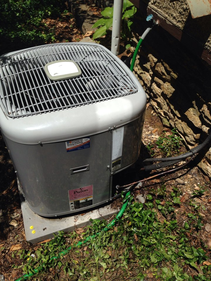 Baltimore, MD - ac service repair on carrier air conditioner. Installed new air handler