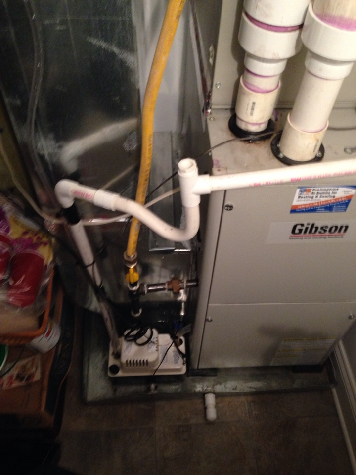 Baltimore, MD - air conditioner service the unit required a new condensate pump and tubing