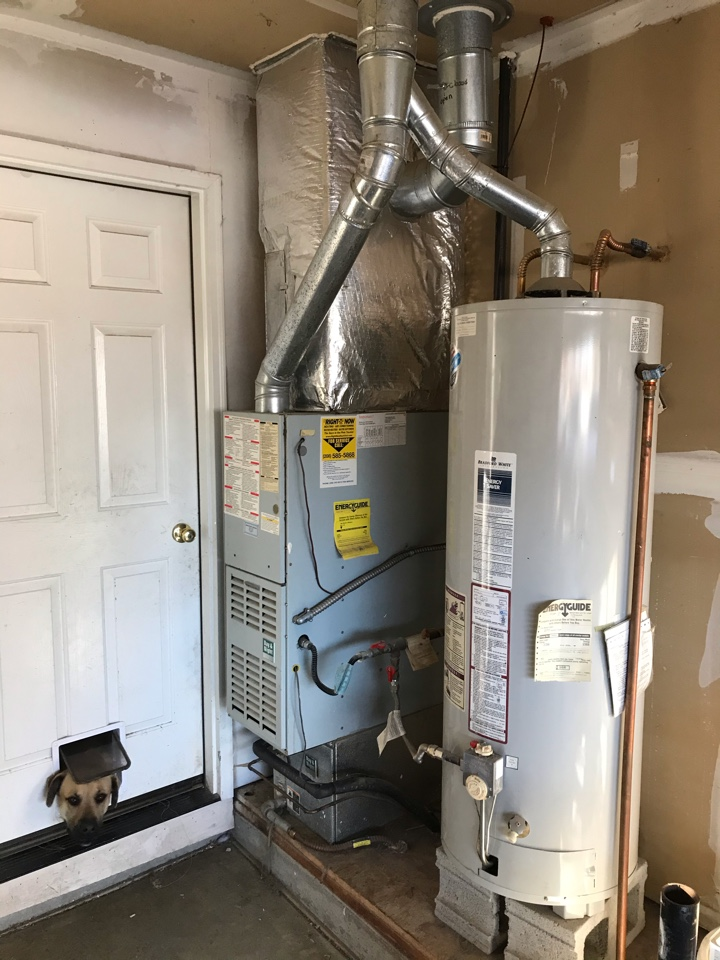 Estimate to replace existing Carrier HVAC system with new Amana furnace and air conditioner and new Rheem water heater