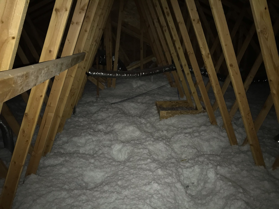 """Blowing in 12"""" of insulation"""