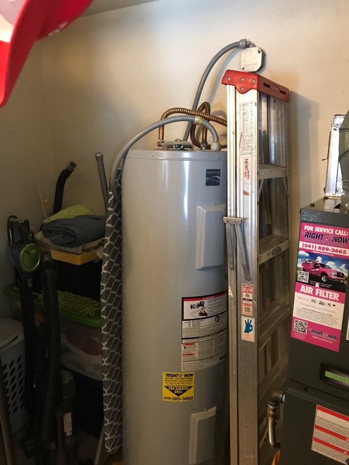 Estimate to replace water heater with a Rheem 50 gal electric water heater