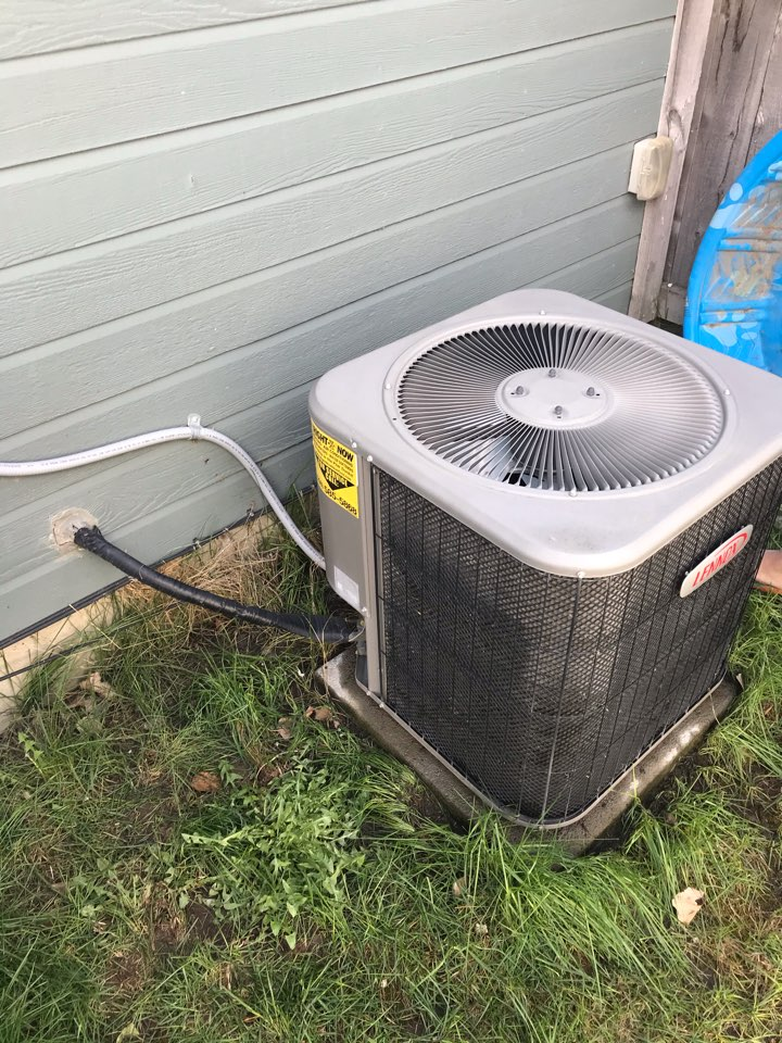 Estimate to replace Lennox air conditioner with an Amana air conditioner