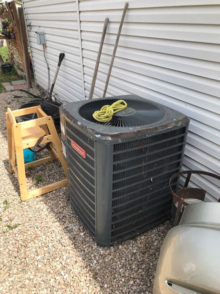 Estimate to replace existing Goodman HVAC system with new Amana furnace and heat pump