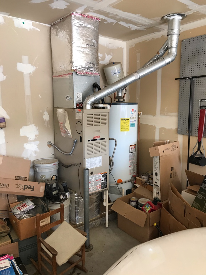 Estimate to replace existing Lennox HVAC system with new Amana furnace and air conditioner and water heater