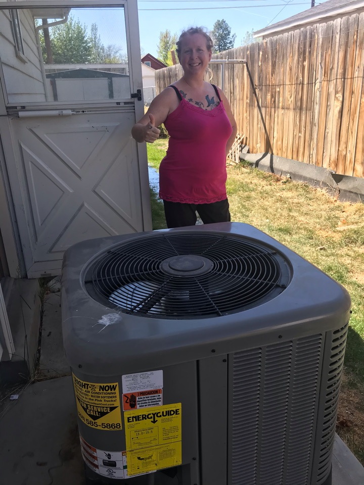 One happy customer after fixing her amana a/c