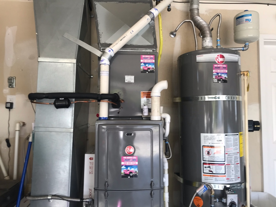 Tune up on a high efficiency Rheem heating cooling & water heater system