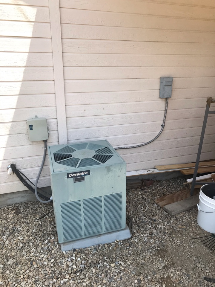 Estimate to replace existing Goodman HVAC system with new Amana furnace and air conditioner
