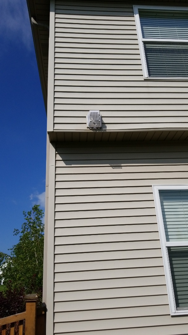 Plainfield, IL - Bird and bird nesting removed from bath vent . Installed bird barrier .