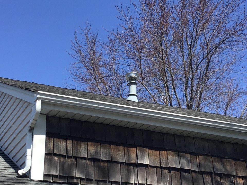 St. Charles, IL - Putting on a new exhaust cap for furnace flue.