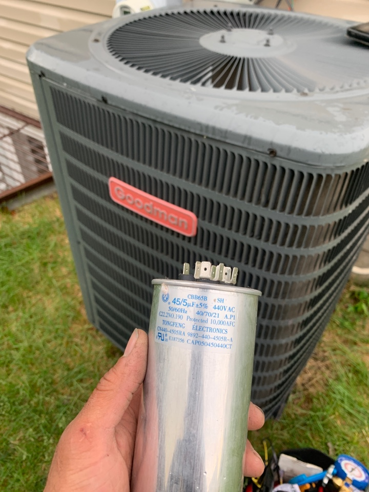 Joliet, IL - Goodman AC getting a new capacitor! Time to cool the house