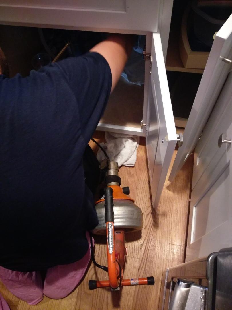 Shrewsbury, MA - Kitchen sink clog