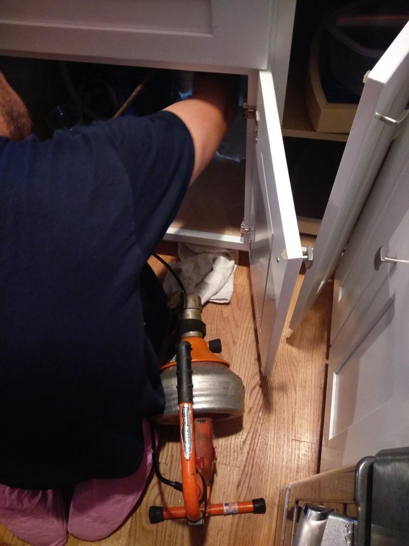 Belmont, MA - Kitchen sink clogged