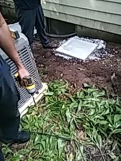 Wayland, MA - Installing new ac compressor
