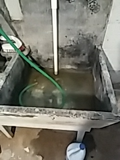 Natick, MA - Clearing utility sink blockage, clear laundry sink clog