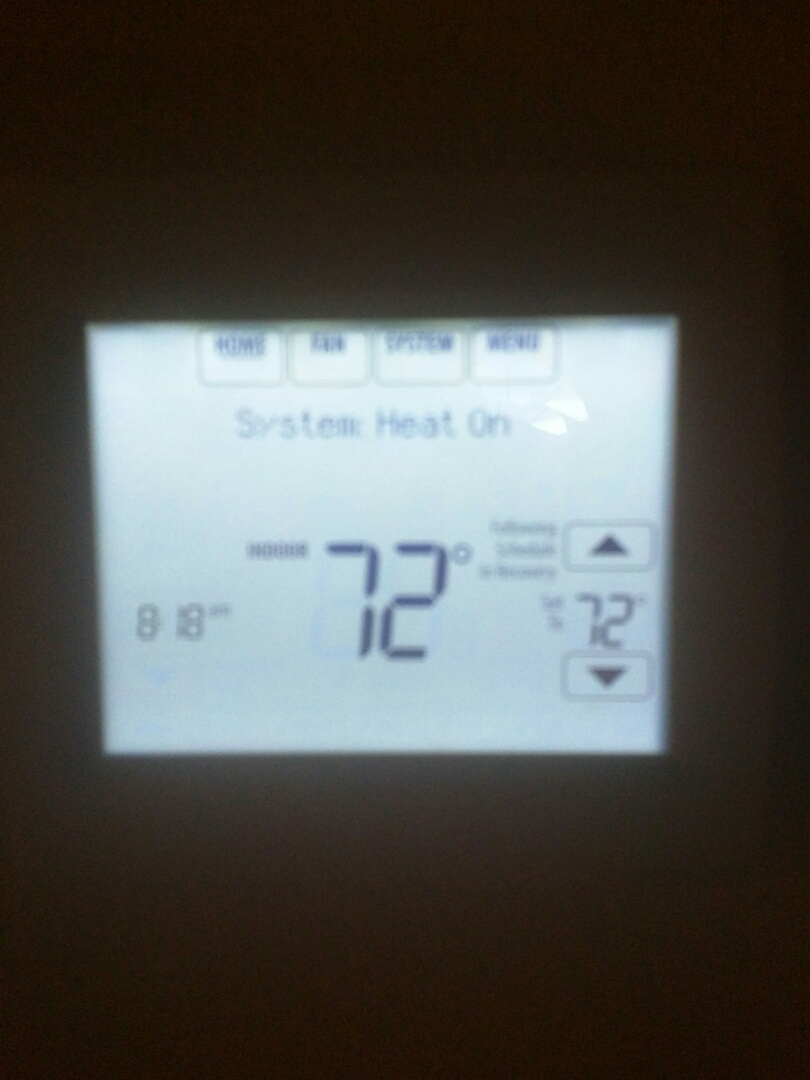 Install and program thermostat, perform test of HVAC system
