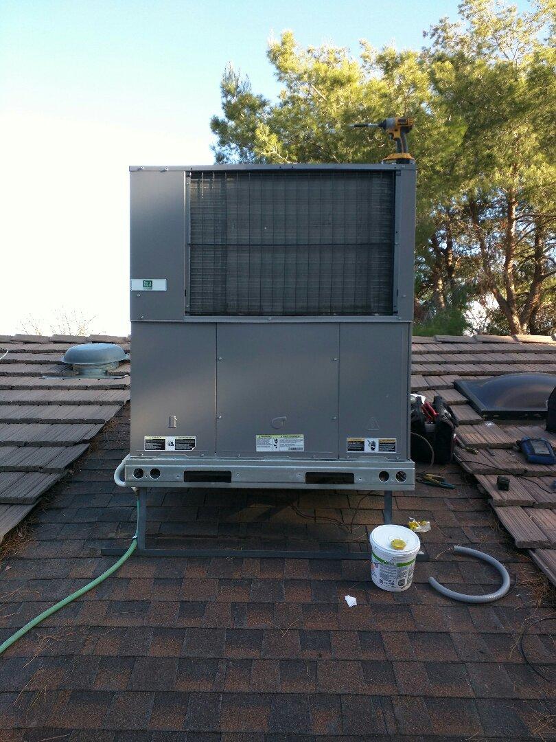 Package Heat pump install
