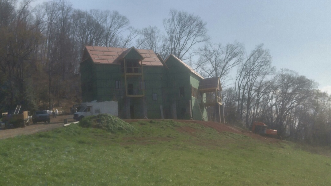 Elizabethton, TN - One of the beautiful homes Gibsons Roofing is installing a roof on today!