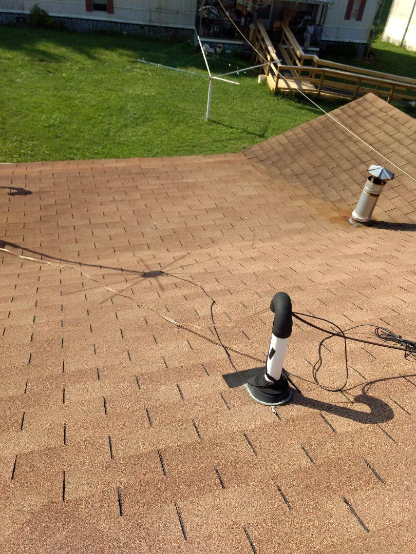 Jonesborough, TN - Leaking shingle roof repair is needed on this home.