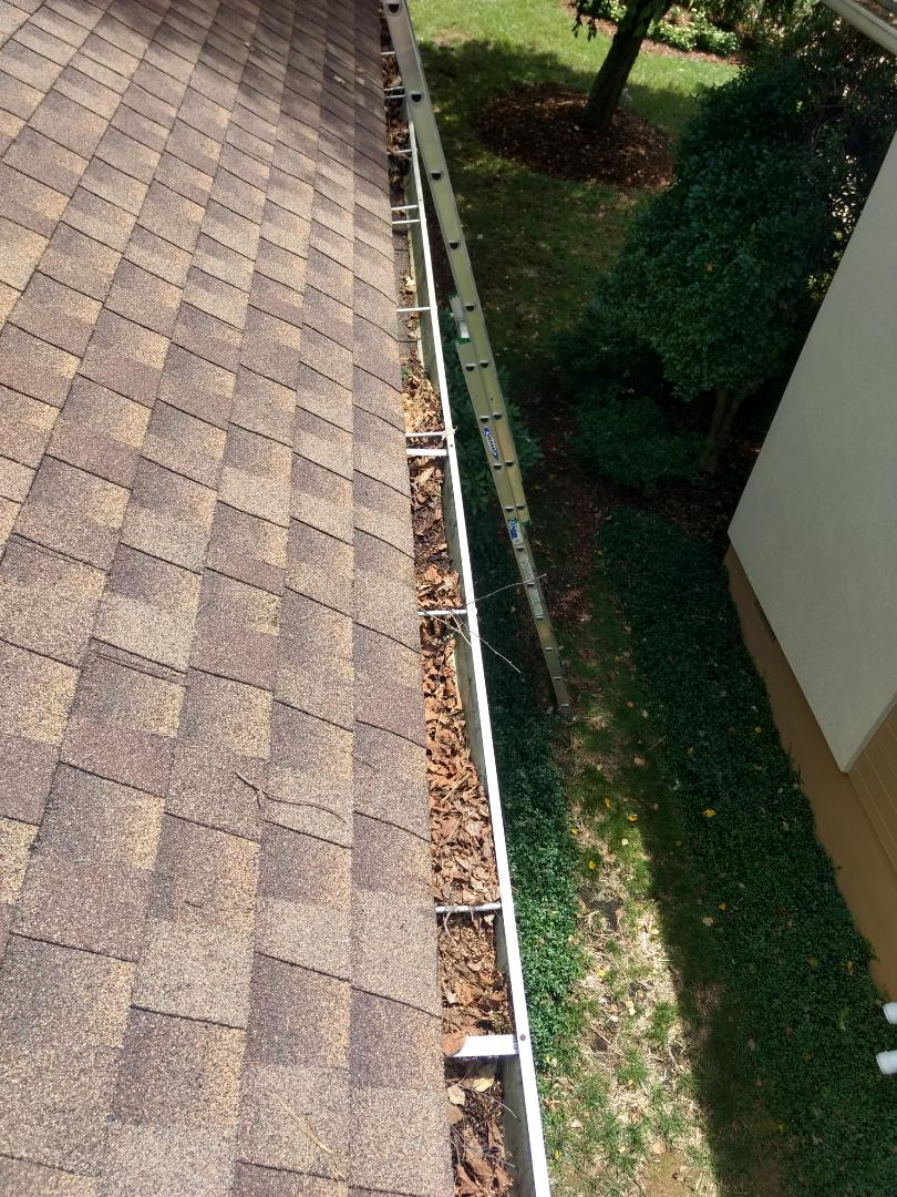Johnson City, TN - Cleaning these gutters today.