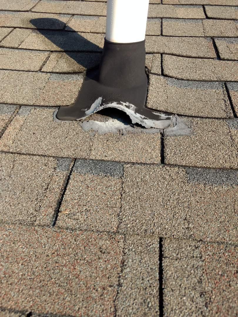 Bristol, TN - Repair leaking pipe flashing