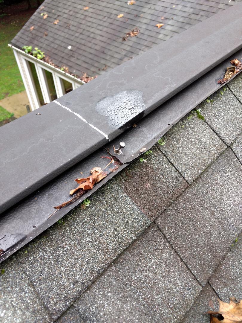 Kingsport, TN - Repair leak in metal ridge vent