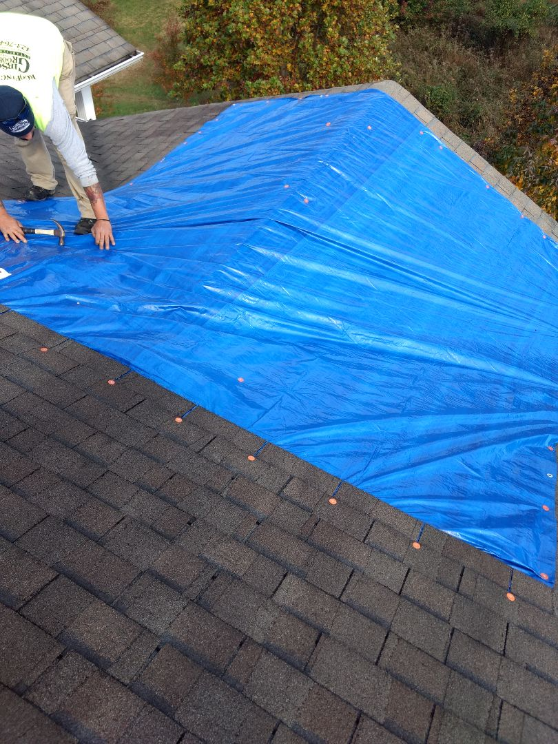 Bristol, TN - Tarping in a leaking roof