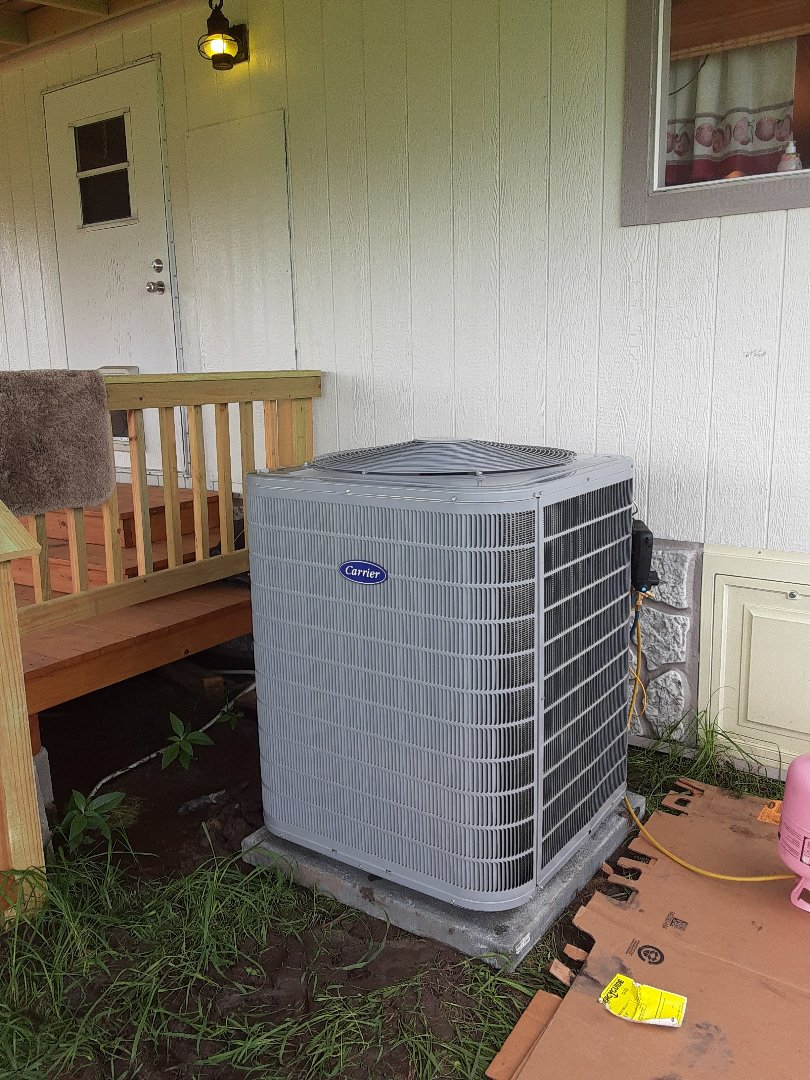 Terrell, TX - New mobile home installed complete with carrier condenser