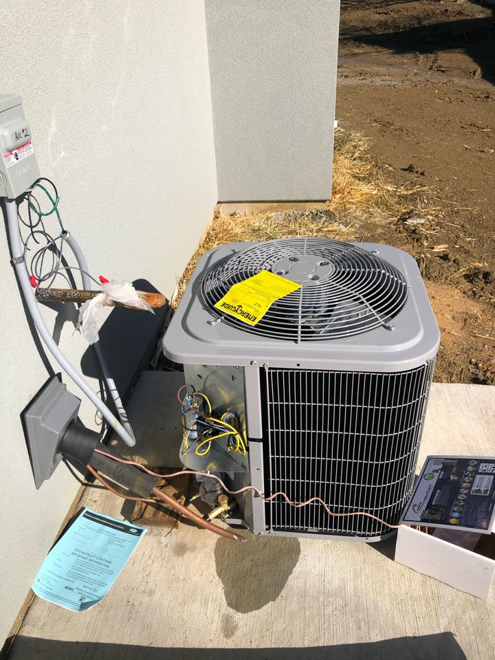 Cedar Hill, TX - We are setting up two condenser for a new build.