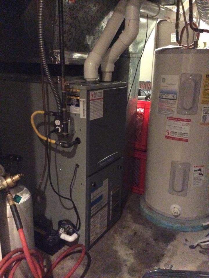 Seattle, WA - Cleaning a gas furnace