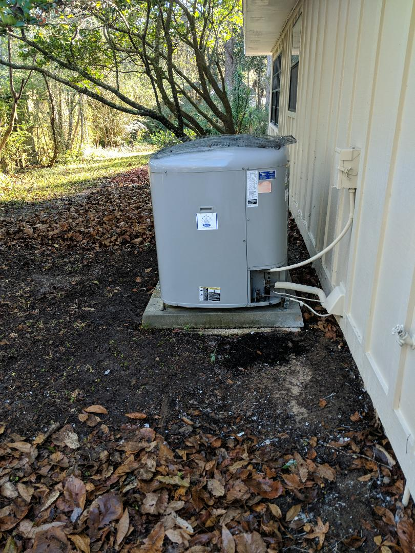 Another tune-up on Carrier performance heat pump air conditioning system in Brooksville FL