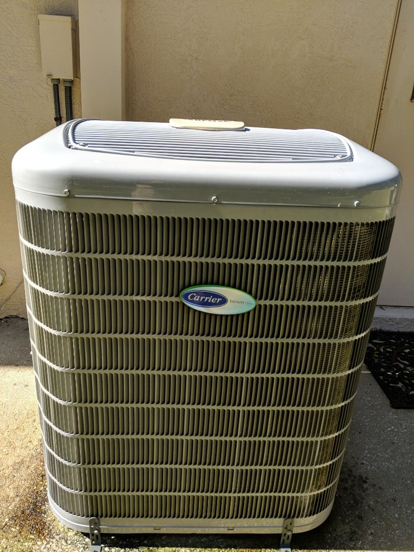 Another tune-up on Carrier Infinity greenspeed heat pump air conditioning system in Brooksville