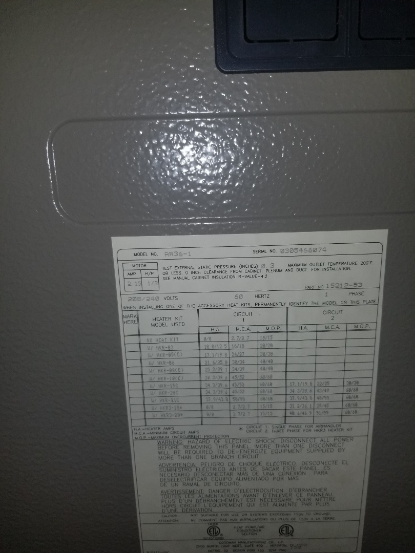 Macomb, MI - Service on air handler
