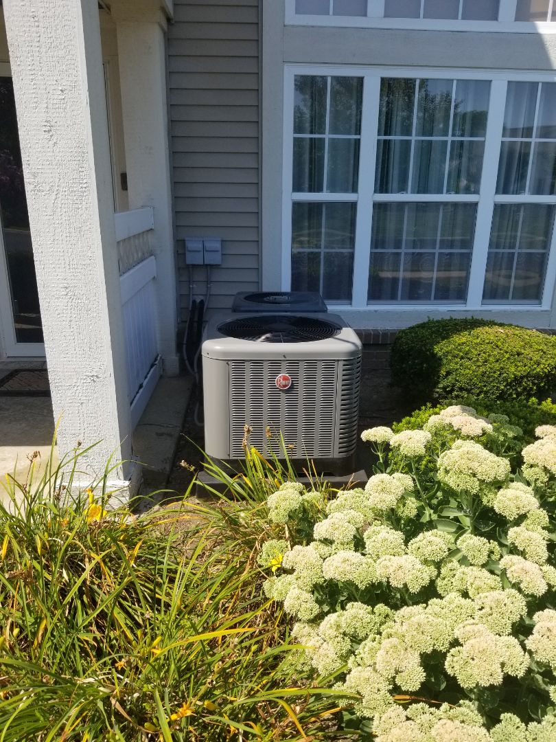 Harrison charter Township, MI - New Rheem air conditioning system.