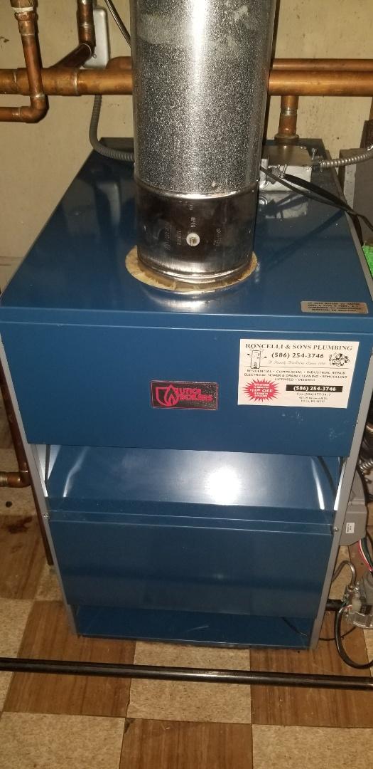 Warren, MI - Service on Utica boiler.