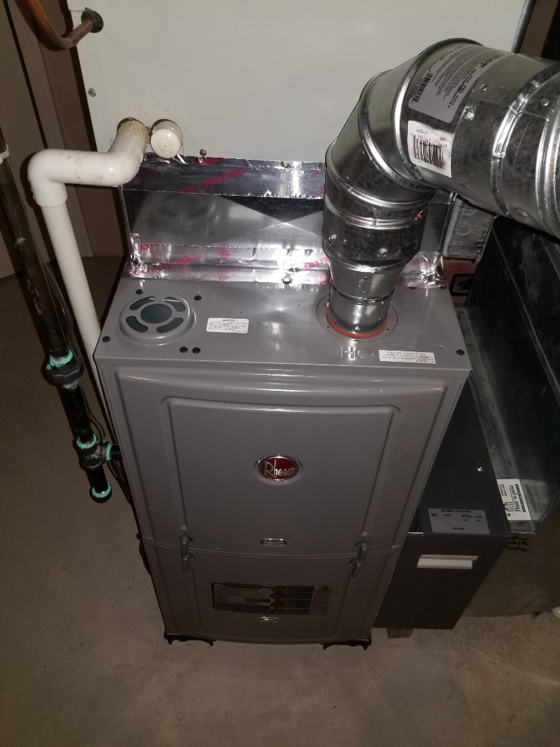 Westland, MI - Installed new rheem 80% furnace.