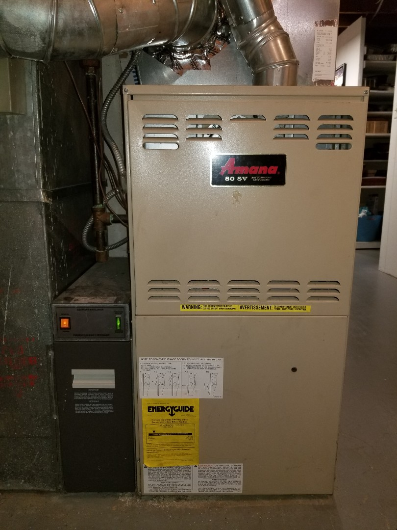 Clinton Township, MI - Repaired amana 80% furnace.