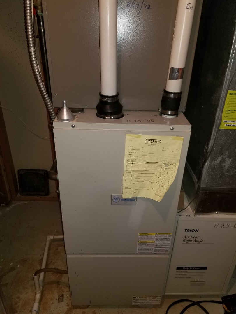 Harrison charter Township, MI - Performed maintenance on westinghouse 90% furnace.