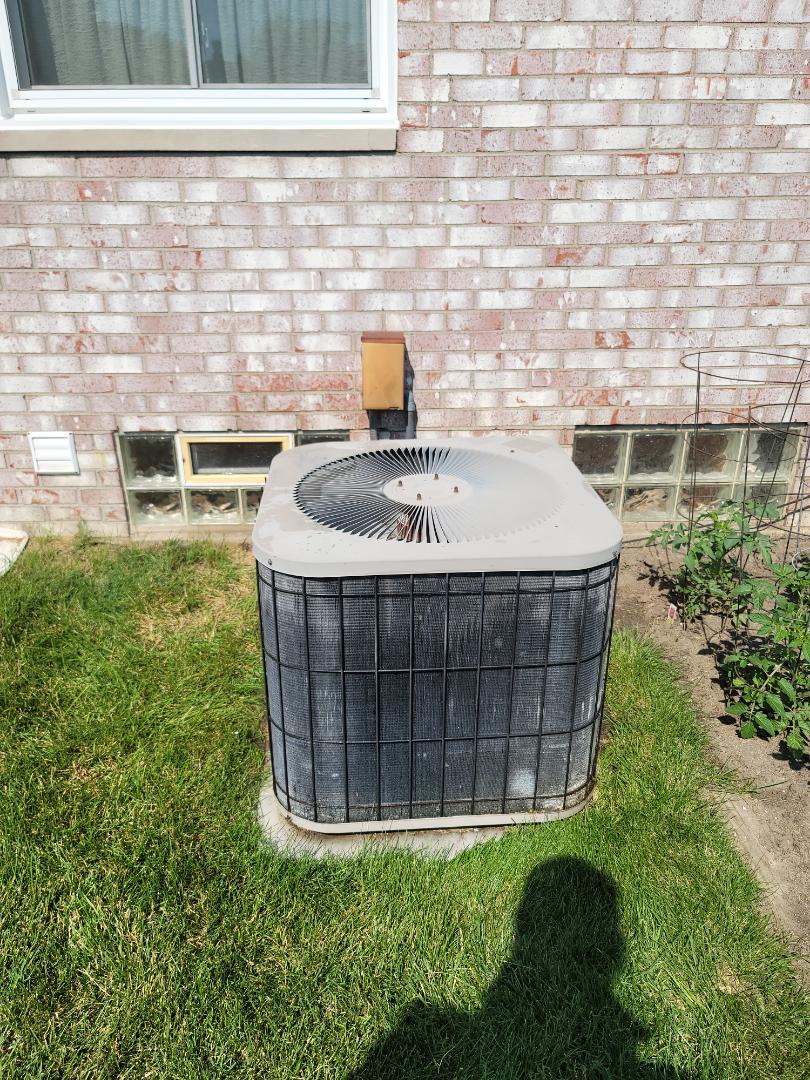 Clinton Township, MI - Maintenance on Goodman air conditioner